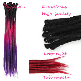synthetic hair dreads NZ - Handmade Dreadlocks Hair dreads extensions hair Extensions Synthetic Crochet Hair Braids Ombre Color Braiding For Hip-Hop For Man Women