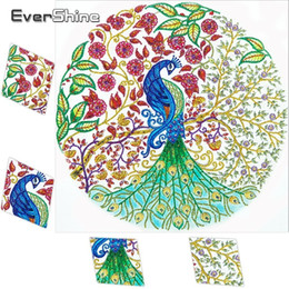 paintings peacocks NZ - wholesale Diamond Embroidery Special Shaped Peacock Diamond Painting Animals Picture Of Rhinestone Diamond Mosaic Handicraft Art