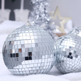 disco ball decorations 2020 - 1 6 12PCS Christmas Decorations Christams Balls New Year Decoration Mirror Balls Christmas Decor Xmas Ornaments Disco ch
