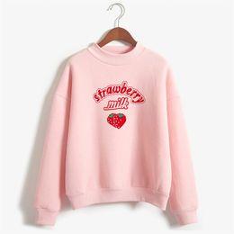 316651705 Harajuku Kawaii Strawberry Hoodie Sweatshirt Women 2019 Korean Fashion Kpop  Street Style Sweatshirts Schoolgirl Streetwear  399889