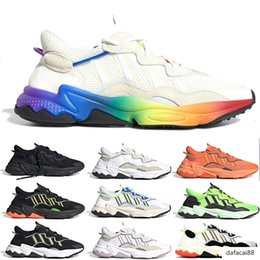 media pack NZ - New Solar Yellow Pride 3M Reflective Xeno Ozweego For Men Women Casual Shoes Cloud White Black Era Pack grey Sports Sneakers Chaussures