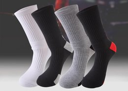 Badminton Towel Australia - Men Women Outdoor Sports Elite Basketball Socks Men Cycling Socks Thicker Towel Bottom Male Compression Men's Socks wholesale