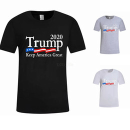 China Men Donald Trump 2020 T-Shirt O-Neck Short Sleeve Shirt USA Flag Keep American Great letter Tops Tee Shirt LJJA2661 cheap wholesale american flag sleeve suppliers