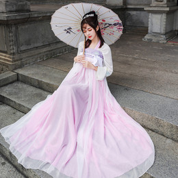 $enCountryForm.capitalKeyWord Australia - Hanfu Pink Chinese Dance Costume Traditional Stage Outfit For Singers Women Ancient Dress Folk Festival Performance Clothing