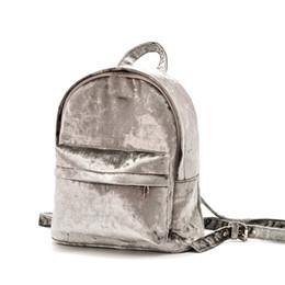 Zipper Brooches Australia - Fashion Solid Women Velvet Backpack With Cute Brooch Girls School Bag Students Book Bag Travel Backpack Rucksack 6180