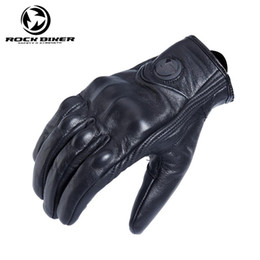 $enCountryForm.capitalKeyWord Australia - free shipping hot sale Rock Biker Retro Full Finger Motorcycle Gloves Leather Summer Men Cycling Moto Motorbike Protective Gears Glove