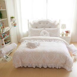 $enCountryForm.capitalKeyWord Australia - Thick fleece warm bed set princess style luxury bedding sets queen king size sheet skirt duvet cover decorative pillow