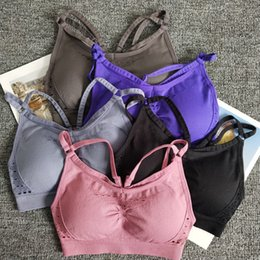 66357a75991fc Energy Seamless Sports Bra Women Adjustable Straps Gym Fitness Bra Top With Removable  Pads Push Up Yoga Activewear Female