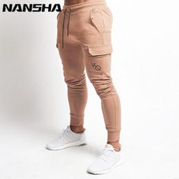Nansha Mens Vq Corredores Calças de Fitness Moda Casual Academias Marca Sweatpants Basculadores Calças de Bolso Inferior Homens Calça Casual Marca Y190413 venda por atacado