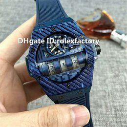 Luxury Display Cases Australia - Top Luxury MP-11 Watch Date Display Automatic Sapphire Crystal Skeleton Dial Carbon Fiber Case Rubber strap Power reserve Mens Watch