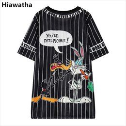 Hiawatha Summer Long T Shirt Donna Cartoon stampato Hollow Out T-shirt stile Harajuku Casual Cime allentate T2470 S19713