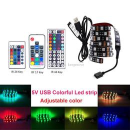 $enCountryForm.capitalKeyWord Australia - DC 5V USB LED Strip 5050 RGB Waterproof LED Light Flexible 1M 2M 3M add 3 17 24 44 Key Remote Controller For TV Background Lighting