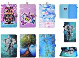 $enCountryForm.capitalKeyWord Australia - For Samsung Galaxy Tab A 10.1 2019 T510 T515 Tab A 8.0 P200 P205 S5e T720 T725 Tablet Cartoon Wallet Leather Case Owl Elephant Stand Cover