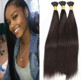 Weft Bulk Human Hair For Braiding NZ - Wholesale Human Hair Bulk 300g Brazilian Straight Bulk Hair For Braiding Human Hair Bulk No Weft