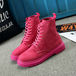 $enCountryForm.capitalKeyWord Australia - Fashion Pink Jason Martins Boots Women Wedge Boots Increasing Platform Female Shoes Nice Punk Style Suede Leather Lace Up Boots