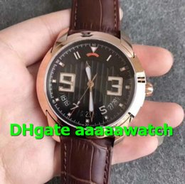 luxury brown leather watch Australia - Luxury Watch L-Evolution 8805-3630-53B 18K Rosegold Case Three Layer Black Dial Brown Leather Strap A.13R5 Automatic 43.5mm Men Watch