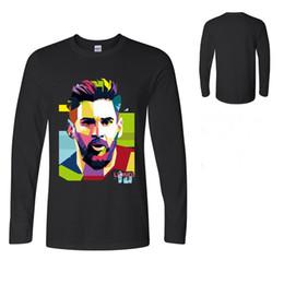 Primavera otoño Lionel Messi T Shirt Barcelona para hombre Camiseta de  manga larga Tops de algodón Camiseta de Argentina para los fanáticos  Camiseta ... fb3a6c3ec7a