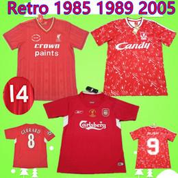 0ae6b081343 RUSH Gerrard 1985 1986 RETRO soccer jersey 2005 2006 Crouch Morientes 85 86 04  05 89 91 football shirt 1989 1991 classic vintage