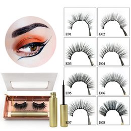 Eyelashes Extensions Set Australia - 2019 Magnetic Eyeliner False 3D Mink Eyelashes Set Magnetic Eyelash False Eyelash Extension Waterproof Mink Lashes Makeup Maquiagem