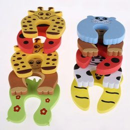 Wholesale 5Pcs Lot Safety Gate Products Newborn Care Cabinet Locks Straps Animal Baby Security Door Card Protection Tools Baby Saftey