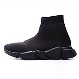 black fabric button UK - Sock Shoes Casual Shoe Speed Trainer High Quality Sneakers Speed Trainer Sock Race Runners black Shoes men and women Spring Shoe