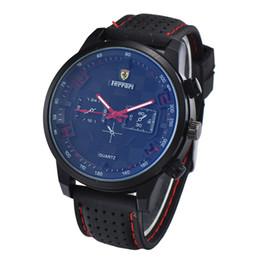 2019 Горячая Продажа Ferrari Для Человека Часы Большие Циферблаты Высокое Качество Кварцевые Наручные Часы Спортивные Мужские Часы Без Коробки