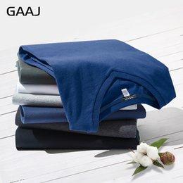 $enCountryForm.capitalKeyWord Australia - 2018 GAAJ Brand T Shirt Men 100% USA Cotton V Neck T Shirts For Men Short Sleeves T-Shirts Summer Top Tee Solid Navy White Grey