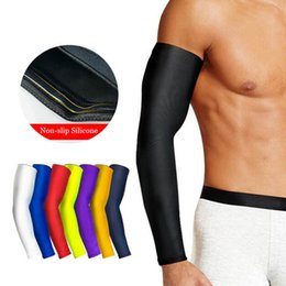 $enCountryForm.capitalKeyWord NZ - 2019 Breathable Quick Dry UV Protection Running Arm Sleeves Basketball Elbow Pad Fitness Armguards Sports Cycling Arm Warmers