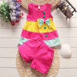 Baby Pink Tracksuit NZ - good quality baby girls clothing set summer bebe tracksuit infant clothin tracksuit for girl vest+shorts 2pcs set outfit sport suit