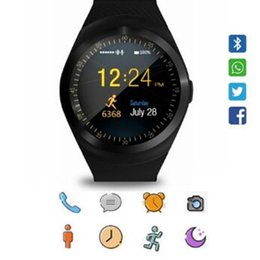 A1 Smart Watch Australia - Y1 Smart Watch with Touch Screen Support TF Sim Card Camera for Android Phone Bluetooth Smartwatch Y1 PK A1 DZ09 100PCS DHL