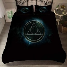 $enCountryForm.capitalKeyWord Australia - Thumbedding Harry Potter Bedding Sets King Size Black Grey Duvet Cover Set Queen Twin Full Single Double Animal Bed Set With Pillowcases