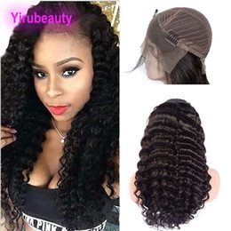 Deep Curly Indian Lace Wig Australia - Indian Deep Wave Curly Lace Front Wigs Virgin Hair Products Lace Front Wig With Baby Hair Dyeable 8-30inch