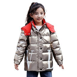 bright suits Australia - Hot New Girls Space Suit Duck down jacket 2019 Children long section bright face Jacket big boy thick fashion Outwear coat