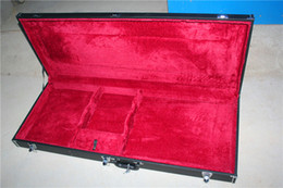 Double Neck Electric Guitar Hardcase,Shape as the Guitar,the color can be customized as to request. on Sale