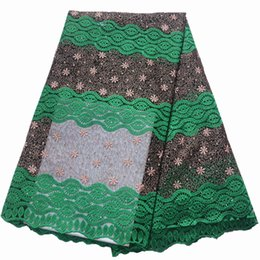 AfricAn fAbric for wedding dresses online shopping - 2019 High Quality African Lace Fabric Teal Milk Silk Applique Lace French Tulle Lace Fabric For Nigerian Wedding Dress yards best price