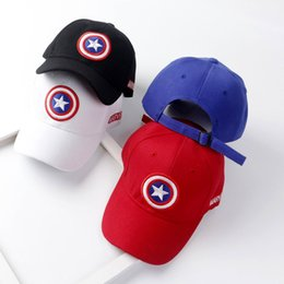 c7e0e28237c kids designer hats snapback caps captain America baseball cap big boy hip  hop hat sun hat Korean children casual caps luxury visor snapbacks