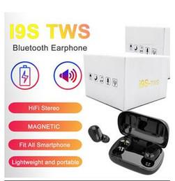 Free shipping Wireless Bluetooth Headphones i9S TWS V5.0 Stereo Cell phone Earphones Sports Headphone i12 i7mini i7S