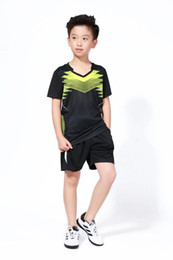 Children S Shirts NZ - 2018 New Student Tennis Shirt Sets , Children badminton set , Kids Table Tennis Clothing Boy Table T Shirt + Shorts Plus Size