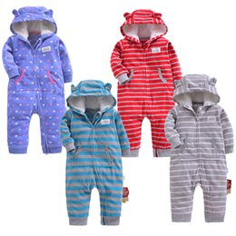$enCountryForm.capitalKeyWord Australia - 2019 Baby Clothing Girls Winter Warm Outfits Fleece Outwear Double Zipper Jumpsuit Baby's Warm Clothes Boys Romper Creeping Suit J190524