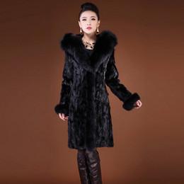Mink Long Jacket Australia - New Women's Fur Imitation Mink Coat Super Large Fur Collar Fox grass Long coat Large size Women's jacket More Size S-6XL