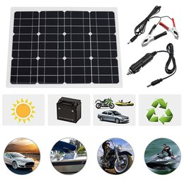 Cell phone power supplies online shopping - 40W Watt Extremely Flexible Monocrystalline Solar Panel Charge Battery Clips for Boat Car Power Supply USB