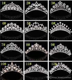 $enCountryForm.capitalKeyWord Australia - Girls Kid Pearl Crystal Crown Wedding Party Bride Headpieces women Hair Jewelry silver plated hair comb rhinestone tiaras princess crown