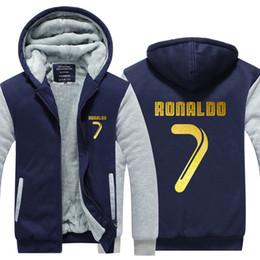 $enCountryForm.capitalKeyWord NZ - US EU Size Cristiano Ronaldo CR7 Hoodie Sweatshirt Men's Fleece Winter Thicken Zipper Hoodies Jacket Jacket super warm Sweatshirt