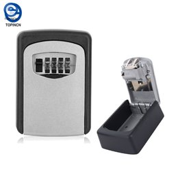 Wall mounted key online shopping - Key Storage Organizer Boxes Digit Wall Mounted Password Small Metal Secret Safe Game Room Escape Props Code