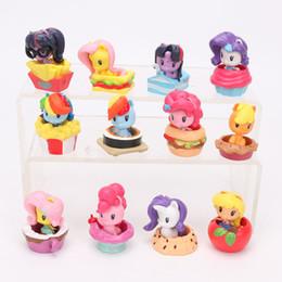 Sparkle Toy Australia - 12pcs 4-5cm My Little Horse Toys Mini Poni Doll Friendship is Magic Rainbow Dash Twilight Sparkle Apple Jack Rarity Action Figure