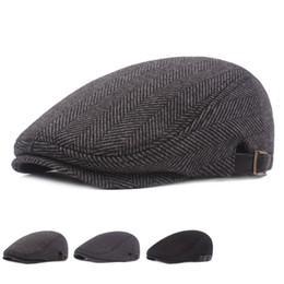 2ce9ab85d6d Male Mens Flat Cap Beret Leisure Weman Newsboy Adjustable Breathable Hat  Winter Chapeau Gentleman Classic Retro Autumn Bone