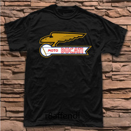 Vintage Spun Cotton Australia - New Moto Ducati Motorcycle Vintage Classic Logo T-Shirt MAN WOMAN Size S - 5XL 2018 Newest Men'S Summer 100% Cotton Fashion