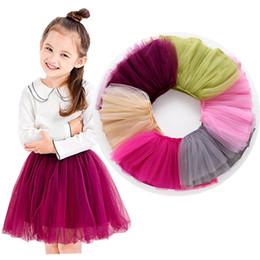 White Tutus For Girls Australia - New 2019 Spring Children Baby Toddler Girls Clothes Tulle Tutu Skirt For Kids Girl White Sky blue Grey Short Mesh Pleated Princess Skirts 11
