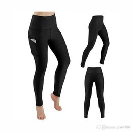 $enCountryForm.capitalKeyWord Australia - Hot sale Yoga pants with pockets for women Solid High Waisted Gym Running Tights Stretchy Long Yoga Pants Pockets pan US size S-XL