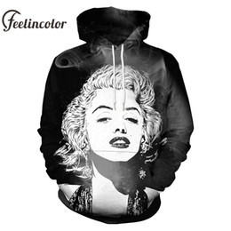 9458a4f7b464 Feelincolor 2019 3D Hoodie Men Women Marilyn Monroe With Smoke Art Printed  Hodded Unisex Hooded Sweatshirts Tracksuit Plus Size